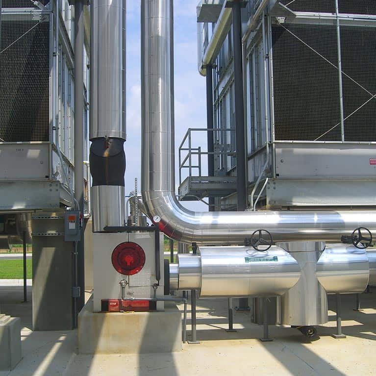 HVAC. Ventilation system. Pipes.
