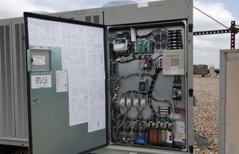 HVAC unit. Industrial HVAC control.