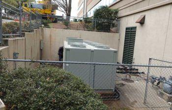 Industrial HVAC. Ventilation system.