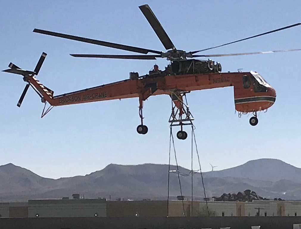 JS Thomas Mechanical air crane.